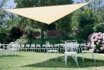 VERDEMAX stínící tkanina trojúhelník 3,6m Béžová