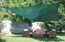 VERDEMAX stínící tkanina čtverec 3,6 x 3,6 m Zelená