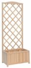 VERDEMAX dřevěný květinový truhlík s popínací mřížkou 8109